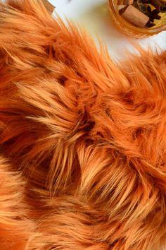 "Animal Tail Red Luxury Faux Fur Long Pile 28/"" Long Fab"