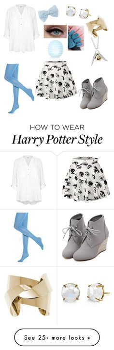 """I'm Drowning, but I Don't Care"" by tenebrosity on Polyvore featuring WithChic, Hue, Decree, River Island, Topshop, women's clothing, women, female, woman and misses"