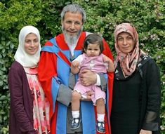 Yusuf Islam, formerly known as Cat Stevens, with his wife, daughter and grand daughter