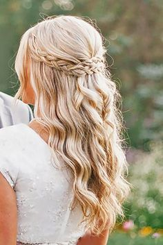 This Looks cool, half up half down wedding hairstyles