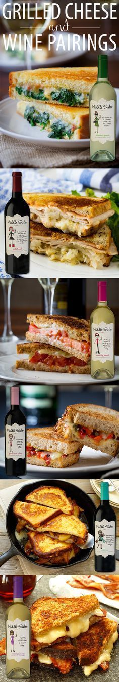 Grilled Cheese and Wine Pairings {wine glass writer}
