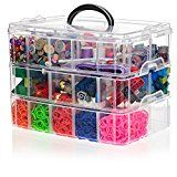 California Home Goods Snapcube Stackable Arts & Crafts Organizer Case Clear Perfect Storage for Legos Shopkins Littlest Pet Shop Figures Rainbow Loom Perler Beads Figurines Accessories Stackable Storage Boxes, Craft Storage Box, Bead Storage, Storage Bins, Tool Storage, Storage Solutions, Safe Storage, Storage Ideas, Storage Hacks