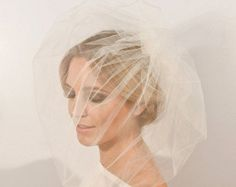 Pouffy Tulle Cage Style Bridal Veil by Ornent @ Etsy