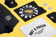 """Artwork by HammerAlbrecht for Crispy Crust Records — a music label of """"Drunken Masters"""" and Brand Identity Design, Branding Design, Drunken Master, Music Labels, Motion Design, Masters, Artwork, Clothing, Master's Degree"""