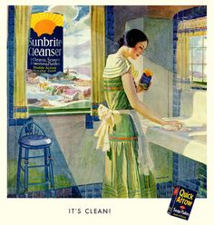 Evidently it's clean! #vintage #1930s #ad #cleaning #homemaker