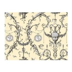 Shop for York Wallcoverings Black and White Neoclassic Urn Toile Wallpaper. Get free delivery On EVERYTHING* Overstock - Your Online Home Improvement Destination! Toile Wallpaper, Cream Wallpaper, Wallpaper Stores, Black Wallpaper, Pattern Wallpaper, Hallway Wallpaper, Bathroom Wallpaper, Wallpaper Ideas, Ashford House