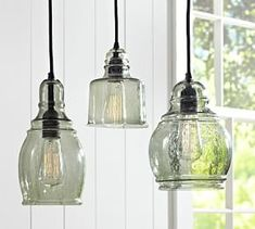 Paxton Glass Single Pendants #Pottery Barn