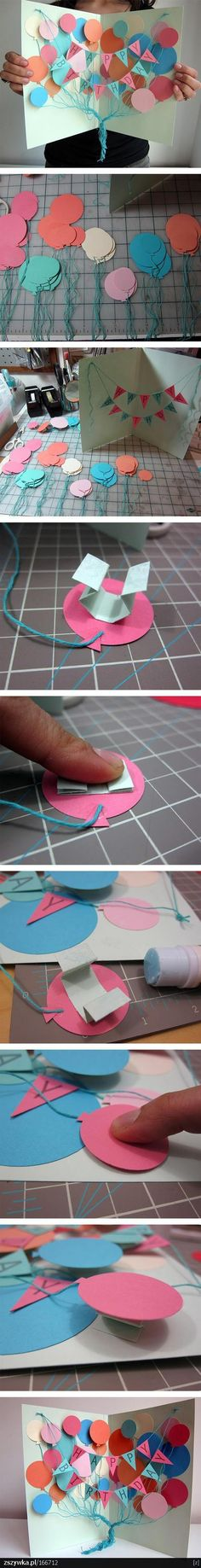 Awesome DIY Birthday Card - A Creative, Meaningful and Cheap DIY Gift for Friend. Awesome DIY Birthday Card - A Creative, Meaningful and Cheap DIY Gift for Friends and Family. Kids Crafts, Diy And Crafts, Craft Projects, Tarjetas Diy, Ideias Diy, Crafty Craft, Diy Cards, Paper Cards, Homemade Cards