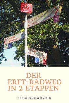 2 Tage lang dauert unsere Fahrradtour auf dem Erft-Radweg. Dieser verläuft von der Quelle in Nettersheim-Holzmülheim in der Eifel bis zur Rheinmündung in Neuss.  #erftradweg #fahrradtour #eifel #reiseblog Eifel, Broadway Shows, Travel Advice, Vacations