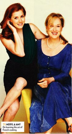 Amy and Meryl Streep in People Magazine RE: their movie Julie and Julia (:-August 2009