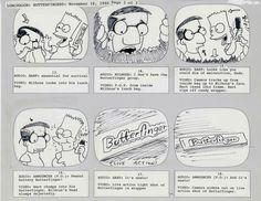Butterfinger Simpsons Commercial Storyboard #1988 #animation #BartSimpson #Bart #Milhouse