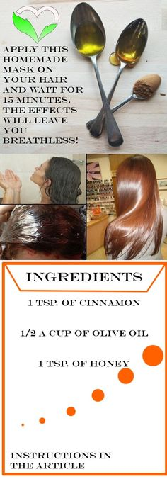 hair mask for damaged hair ; hair masks for hair growth ; hair mask for growth ; hair mask for dry hair ; hair mask for dandruff ; hair mask for damaged hair homemade Olive Oil Hair Mask, Hair Oil, Olive Oil For Hair, Olive Oil Hair Growth, Belleza Diy, Tips Belleza, Natural Hair Care, Natural Hair Styles, Natural Beauty