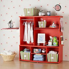 Entertainment unit or dresser turner laundry station! Just what I need! The Cottage Market: 25 Upcycled Furniture Ideas