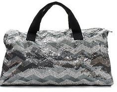 Monogrammed Bags - Girls Monogrammed Dance Bag Gray Chevron Sequins B  Monogram e98f9cfe00abc