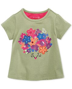 First Impressions Baby Girls' Floral Tee - Kids - Macy's