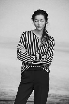 The #GiorgioArmani New Normal #fw16 advertising campaign lensed by Peter Lindbergh featuring Liu Wen. #GANewNormal