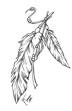 Plumage Lineart par Beauty is DeviantArt - Plumage Lineart by kauniitaunia on DeviantArt Plumage Lineart par Beauty is Feather Drawing, Feather Tattoo Design, Feather Art, Indian Feather Tattoos, Indian Feathers, Native Art, Native American Art, Celtic Tatoo, Tattoo Plume