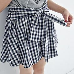 Plaid t-shirt skirt