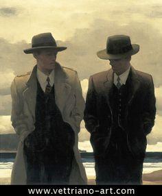 """AMATEUR PHILOSOPHERS"" by Jack Vettriano"