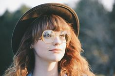 Vintage spring style with hipster glasses