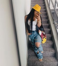 Cute Swag Outfits, Outfits With Hats, Classy Outfits, Stylish Outfits, Fall Outfits, Summer Outfits, Fashion Outfits, Black Girl Fashion, Swagg
