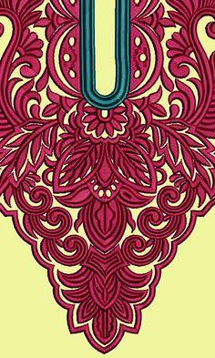 9750 Neck Embrodery Design