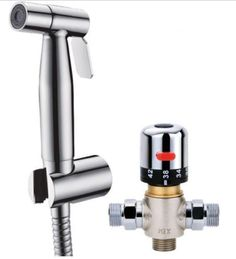 Stainless steel Hand held Bidet Hot Cold water Mixing Thermostatic valve toilet sprayer set #Affiliate