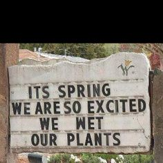 Cute spring garden center sign