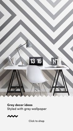 Style a geometric wall that is modern yet not too overpowering with this grey striped wallpaper, a subtle fade design. Striped Wallpaper Black And White, Striped Wallpaper Design, Grey Striped Walls, Grey Wallpaper, Grey Stripes, Create Space, Stripes Design, Experiment, Light In The Dark
