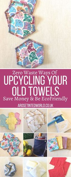Easy Sewing Projects, Sewing Projects For Beginners, Sewing Crafts, Craft Projects, Sewing Ideas, Creative School Project Ideas, School Projects, Old Towels, Sustainable Ideas