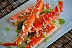 King Crab Legs in Garlic Lemon Butter at http://www.giovannisfishmarket.com/articles/King-Crab-Legs-in-Garlic-Lemon-Butter.aspx