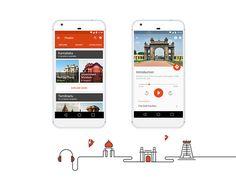 Travel audio guide app.