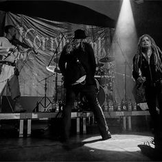 Tuomas Rounakari, Kalle 'Cane Savijärvi and Jonne Järvelä: Korpiklaani at Felsenkeller in Leipzig on 16th May.2016. Photographer: Silvio Pfeifer
