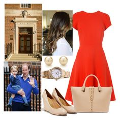 """""""Arriving at St. Mary's to Visit Kate and the New Baby"""" by walesacademy ❤ liked on Polyvore featuring L.K.Bennett, Salvatore Ferragamo, Tiffany & Co., Versace, Chloé and LittlePrincess"""
