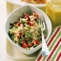 Warmer couscous salat mit ziegenkase