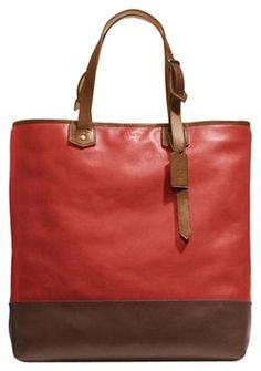 Coach Tote in Currant and Saddle