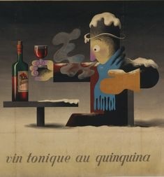 (Detai) By Adolphe Mouron Cassandre Dubonnet, vin au Quinquina. Cubist Art, 139, Commercial Art, Communication Design, Advertising Poster, Museum Of Modern Art, Canvas Artwork, Decoration, Vintage Posters
