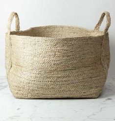 Maison Bengal Natural Jute Rectangular Basket with Handles - 25 x 20 in - The Foundry Home Goods Towel Basket, Big Basket, Basket Bag, Rattan, Wicker, Bengal, Large Storage Baskets, Woven Baskets, Rectangular Baskets
