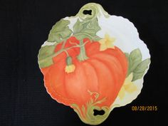 Pumpkin Cake Plate Tray Art Painting on by PorcelainChinaArt