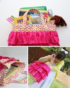 ruffled church bag -- there is a cute one for boys too