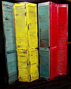 Unique, Distressed, Colorful,Screen,  Room Divider or Home Accent