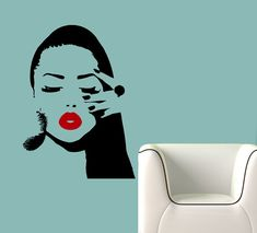 Girl Face with Hand Manicure Wall Decals Wall Vinyl by BestDecals, $16.99