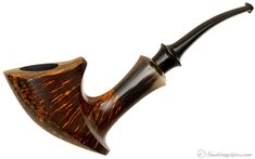 Peter Heding Smooth Elephant's Foot with Horn (Gold) Pipes at Smoking Pipes .com