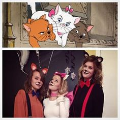 Toulouse, Marie, and Berlioz from The Aristocats | 19 Non-Princess Disney Costume Ideas For Halloween