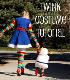 twink costume tutorial by pinksuedeshoe, via Flickr