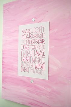 Free printable-Star Light, Star Bright...
