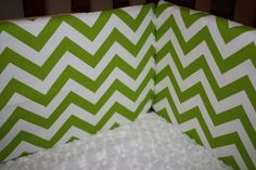 Lime Chevron Bumper by DesignsbyChristyS on Etsy, $100.00