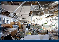 Office after an earthquake