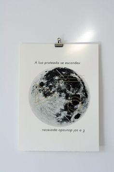Moon. Print.