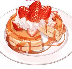 Find images and videos about food, anime and yummy on We Heart It - the app to get lost in what you love. Asian Recipes, Real Food Recipes, Arte Copic, Cute Food Drawings, Drawing Of Food, Cute Food Art, Dessert Illustration, Food Porn, Food Sketch